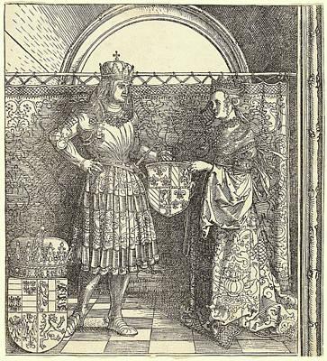 Albrecht Dürer, The Betrothal Of Maximilian With Mary Art Print