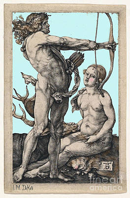 Albrecht Durer Apollo And Diana On A Blue Sky Art Print by I M DeKalb