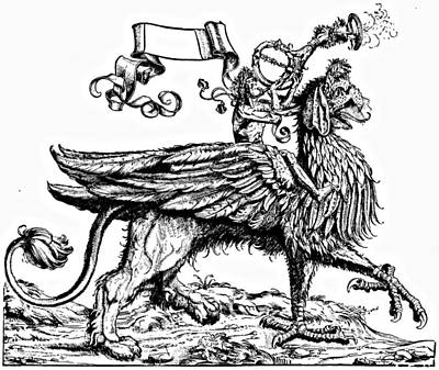 Griffin Drawing - Albrecht Durer Etching The Herald by