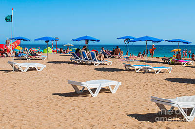 Photograph - Albufeira Beach by Luis Alvarenga