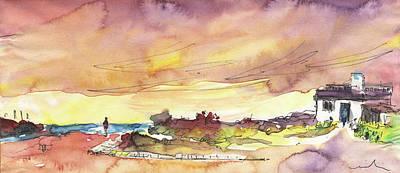 Impressionism Drawings - Albufeira de Valencia 20 by Miki De Goodaboom