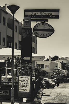 Photograph - Albufeira Street Series - Bar Bistro by Marco Oliveira