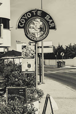 Photograph - Albufeira Street Series - Coyote Bar I by Marco Oliveira