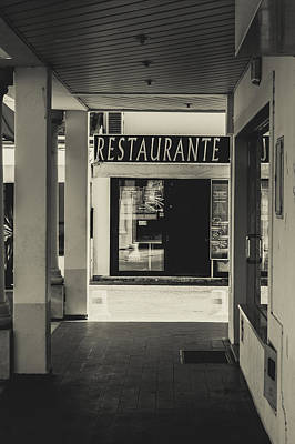 Photograph - Albufeira Street Series - Restaurante by Marco Oliveira