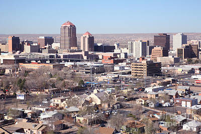 Albuquerque Skyline Art Print by Bill Cobb