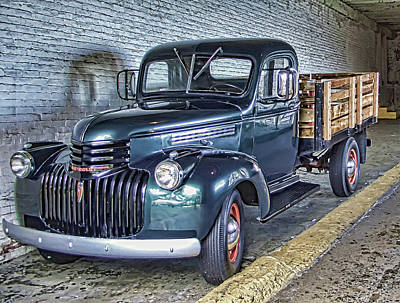 Alcatraz 1940 Chevy Utility Truck Art Print by Daniel Hagerman