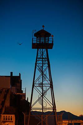 Alcatraz Guard Tower Art Print by Steve Gadomski