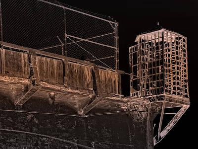 Alcatraz Photograph - Alcatraz Gun Walk Guard Cage by Daniel Hagerman