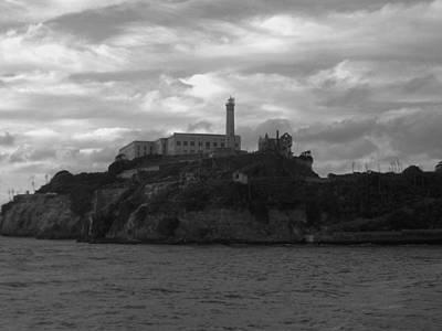 Alcatraz Island B N W Art Print