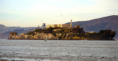 Painting - Alcatraz Island From Fisherman's Wharf by Christopher Winkler