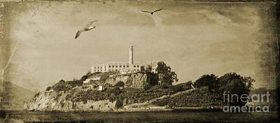 Punishment Digital Art - Alcatraz San Francisco by John Malone