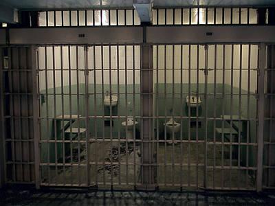 Alcatraz Side-by-side Cells Art Print by Daniel Hagerman