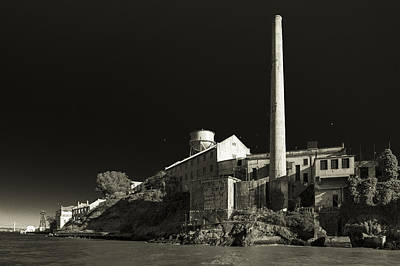 Sean Connery Photograph - Alcatraz Stack Sepia by Scott Campbell