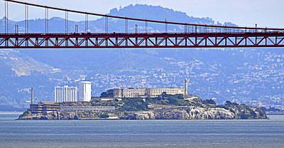Photograph - Alcatraz Through The Golden Gate by AJ  Schibig
