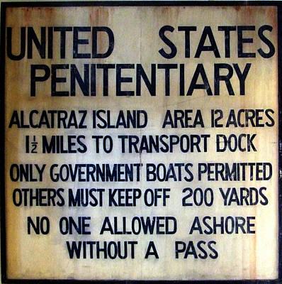 Alcatraz Warning Art Print by Richard Reeve