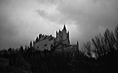 Photograph - Alcazar Castle Black And White by Robert  Moss