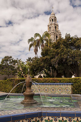 Photograph - Alcazar Garden Fountain And California Tower by Lee Kirchhevel