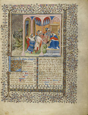 1420 Painting - Alchandreus Presents His Work To A King Virgil Master by Litz Collection