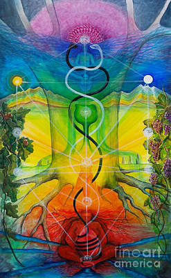 Chakra Rainbow Painting - Alchemical Door by Colleen Koziara