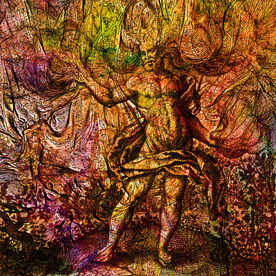 Seventeenth Century Digital Art - Alchemical Fire - In The Belly Of The Wind by Richard Maier