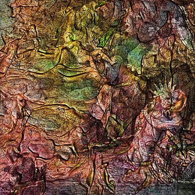 Seventeenth Century Digital Art - Alchemical Fire - The King's Bath by Richard Maier