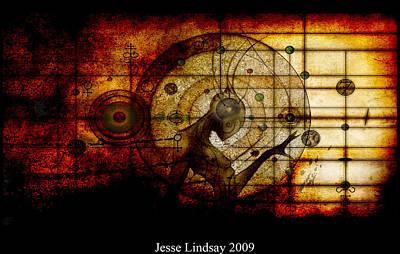 Science Fiction Mixed Media - Alchemical Surrealism By Jesse Lindsay  by Jesse Lindsay