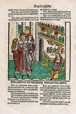 Alchemist With His Students Art Print by National Library Of Medicine
