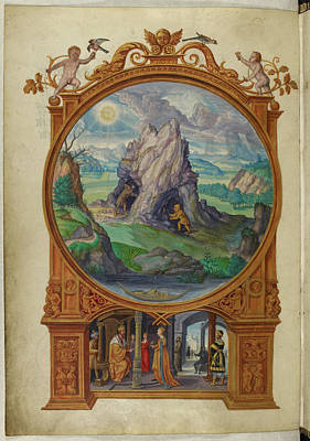 Alchemists Searching For Gold Print by British Library