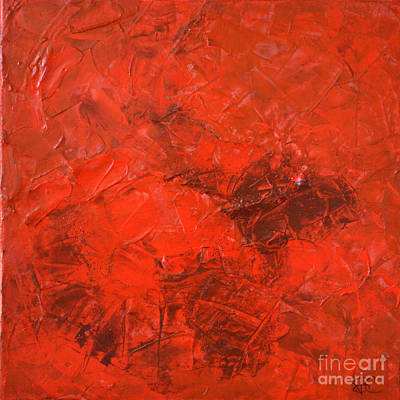 Alchemy In Red - Red Abstract By Chakramoon Art Print by Belinda Capol