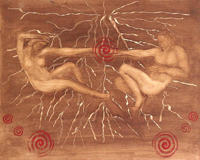 Sexual Human Nature Painting - Alchemy Of Creation by Diana Perfect