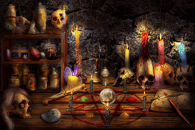 Pentagram Photograph - Alchemy - That Old Black Magic by Mike Savad