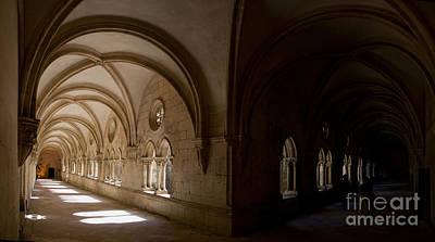 Monastery Photograph - Alcobaca Monastery Cloister by Jose Elias - Sofia Pereira