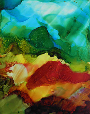 Painting - Alcohol Ink Landscape # 157 by Sandra Fox