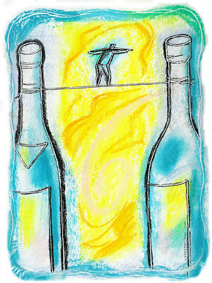 Alcoholism Art Print by Leon Zernitsky
