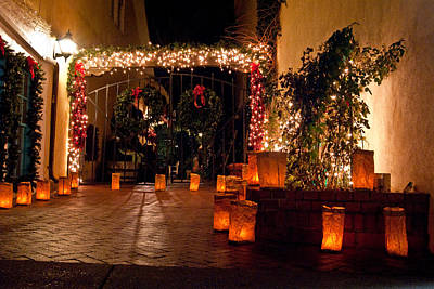 Luminaria Photograph - Alcove Illuminated by Don Durante Jr