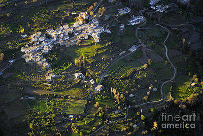 Aerial Photograph - Alcutar Village From The Air by Guido Montanes Castillo