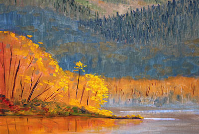 Mist Painting - Alder Lake by Nancy Merkle
