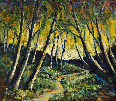 Mixed Media - Alder Path Sunset by Kenny Henson