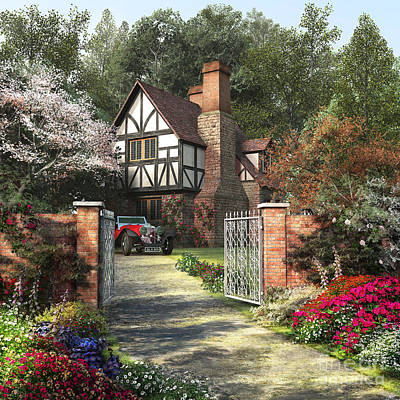 British Digital Art - Alder Tree House by Dominic Davison
