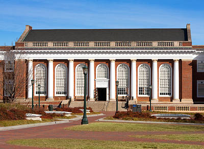 Photograph - Alderman Library At Uva by Melinda Fawver
