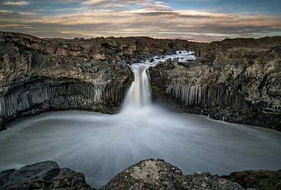 Aldeyjarfoss Waterfall North Iceland Art Print