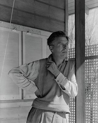 Huxley Photograph - Aldous Huxley On A Porch by George Platt Lynes