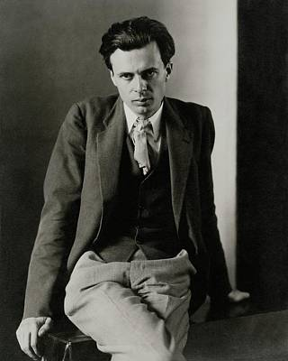 Aldous Huxley Wearing A Three-piece Suit Art Print by Charles Sheeler