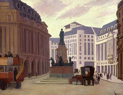Bevan Robert Polhill 1865-1925 Painting - Aldwych, London Back Of Canvas And Back Of Stretcher by Litz Collection