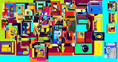 Holy Alphabet Digital Art - Alef Bais 1a by David Baruch Wolk