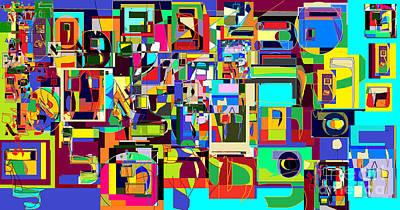 Holy Alphabet Digital Art - Alef Bais 1c by David Baruch Wolk