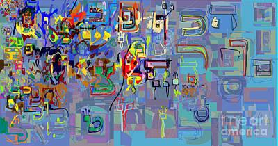 Talmud Digital Art - Alef Bais 1k by David Baruch Wolk