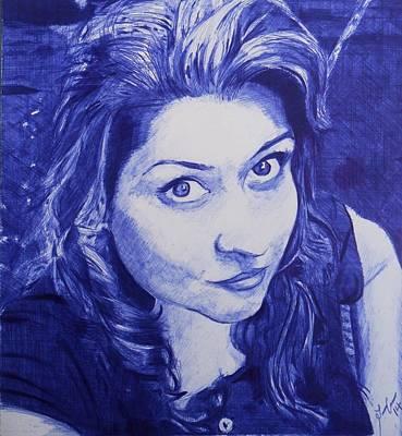Drawing - Alejandra Maldonado by Luis Carlos A
