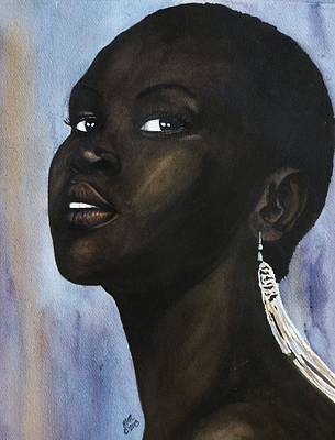 Painting - Alek Wek by Michal Madison