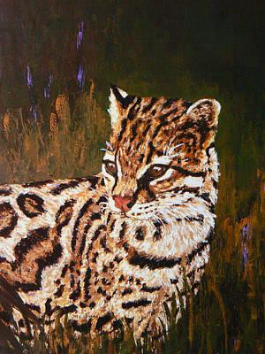 Painting - Alert Ocelot by Margaret Saheed